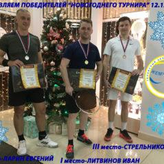 Поздравляем победителей «Новогоднего турнира»